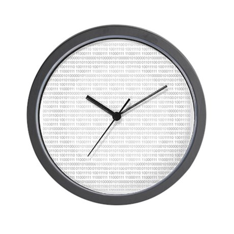 CircleSquareCode Wall Clock