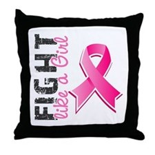 Licensed Fight Like a Girl Throw Pillow