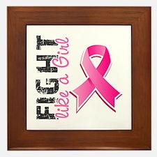 Licensed Fight Like a Girl Framed Tile