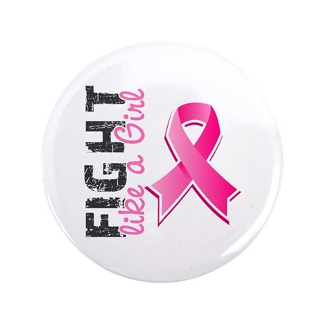 "Licensed Fight Like a Girl 3.5"" Button (100 pack)"