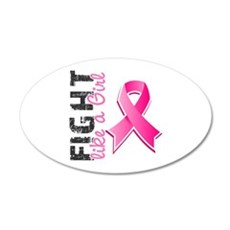 Licensed Fight Like a Girl Wall Decal