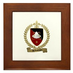 BABINEAUX Family Crest Framed Tile