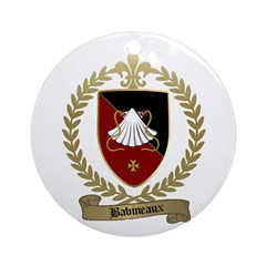 BABINEAUX Family Crest Ornament (Round)