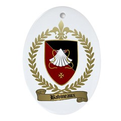 BABINEAUX Family Crest Ornament (Oval)