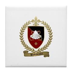BABINEAUX Family Crest Tile Coaster