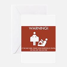 Warning Help Desk Greeting Card