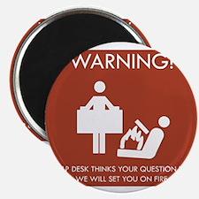 """Warning Help Desk 2.25"""" Magnet (100 pack)"""