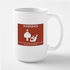 Warning Help Desk Mug