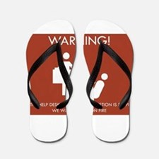 Warning Help Desk Flip Flops