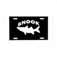 Cute Tarpon fishing Aluminum License Plate