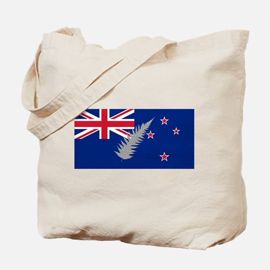 New Zealand Silver Fern Flag Tote Bag