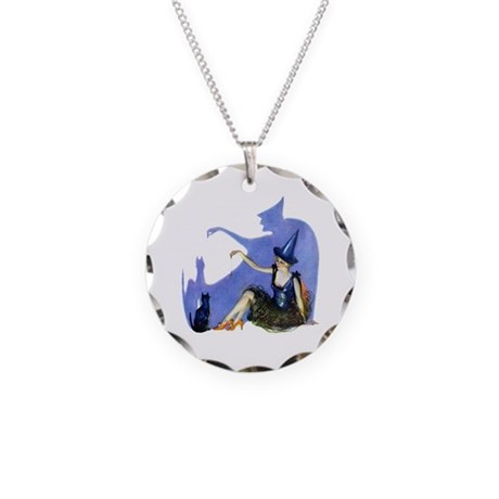 Wicked in the Shadows Necklace Circle Charm