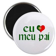 I love my Dad (Portuguese) Magnet