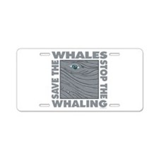 Save Whales Aluminum License Plate