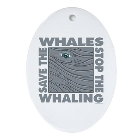 Save Whales Ornament (Oval)