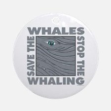 Save Whales Ornament (Round)