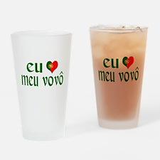 I love my Grandpa (Portuguese) Drinking Glass