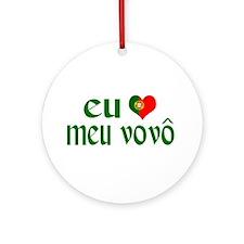 I love my Grandpa (Portuguese) Ornament (Round)