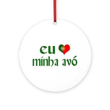 I love my Grandma (Portuguese) Ornament (Round)