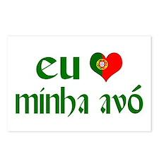 I love my Grandma (Portuguese) Postcards (Package
