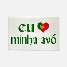I love my Grandma (Portuguese) Rectangle Magnet
