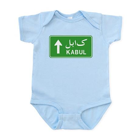 Kabul Highway Sign Infant Bodysuit