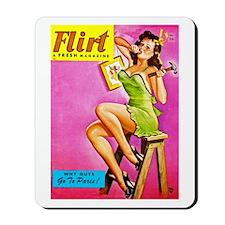 Flirt Pin Up Girl with Hammer Mousepad