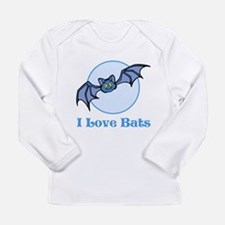I Love Bats, Cartoon Long Sleeve Infant T-Shirt