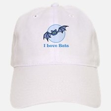 I Love Bats, Cartoon Baseball Baseball Cap