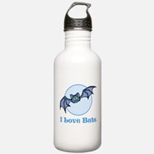 I Love Bats, Cartoon Water Bottle