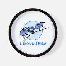 I Love Bats, Cartoon Wall Clock