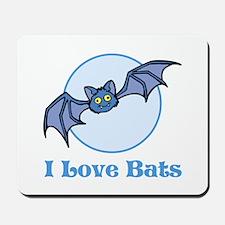 I Love Bats, Cartoon Mousepad