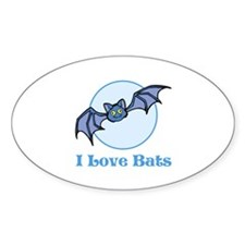 I Love Bats, Cartoon Decal