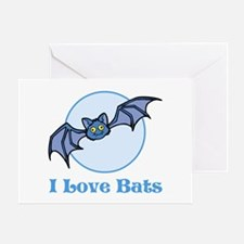 I Love Bats, Cartoon Greeting Card