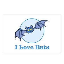 I Love Bats, Cartoon Postcards (Package of 8)