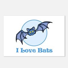 I Love Bats, Cartoon Postcards (Package of 8)