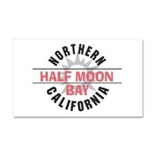 Half Moon Bay California Car Magnet 20 x 12