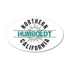Humboldt California 22x14 Oval Wall Peel