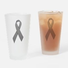 Gray Ribbon Drinking Glass