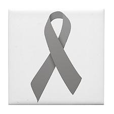 Gray Ribbon Tile Coaster