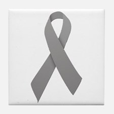 Gray Ribbon Tile Coaster