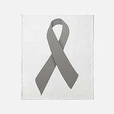 Gray Ribbon Throw Blanket
