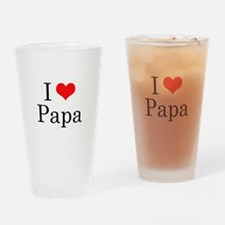 I Love Papa Drinking Glass