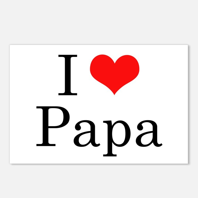 I Love Papa Postcards I Love Papa Post Card Design Template