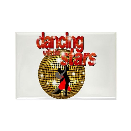 Dancing with the Stars Disco Rectangle Magnet