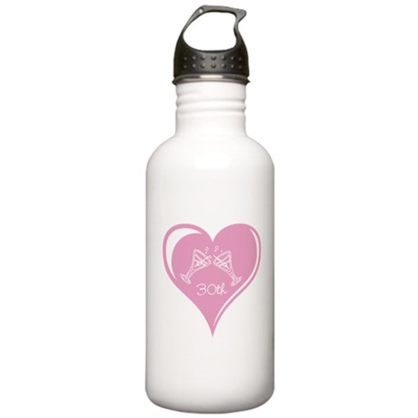 30th Wedding Anniversary Stainless Water Bottle 1.