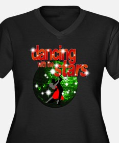Dancing with the Stars Green Women's Plus Size V-N