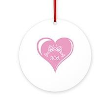 30th Wedding Anniversary Ornament (Round)