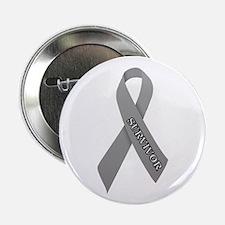 """Gray Ribbon 'Survivor' 2.25"""" Button"""