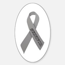 Gray Ribbon 'Survivor' Decal